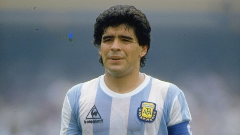 Diego Maradona of Argentina 10 Jun 1986: Portrait of Diego Maradona of Argentina during the World Cup match against Bulgaria at the Olympic Stadium in Mexico City. Argentina won the match 2-0.
